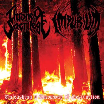 Throne Sacrilege - Imperium - split - cover promo pic - EP - 2014