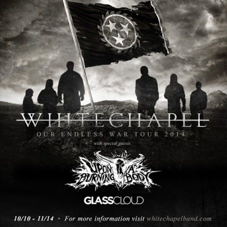 White Chapel - Our Endless War Tour - 2014 - promo flyer