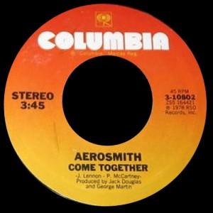 Aerosmith - Come Together - 45rpm - promo pic - 1978 - #77ST