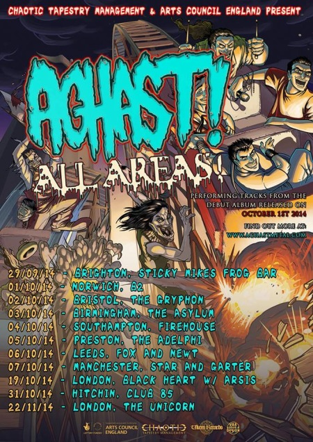 Aghast! - All Areas - promo tour flyer - October 2014
