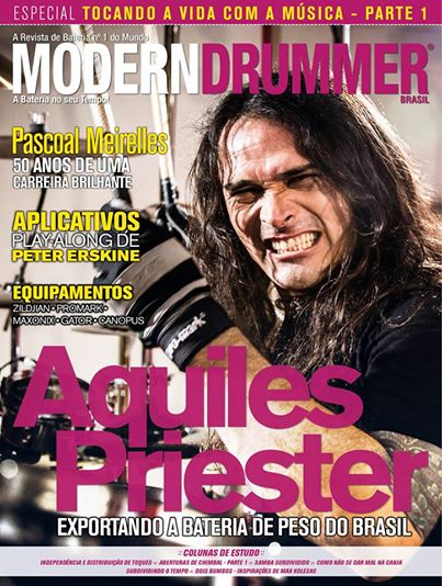 Aquiles Priester - Modern Drummer - Brazil - promo cover pic - 2014