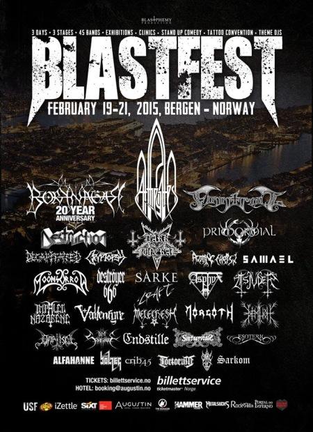 Blastfest - Bergen - Norway - Feb 2015 - promo festival flyer