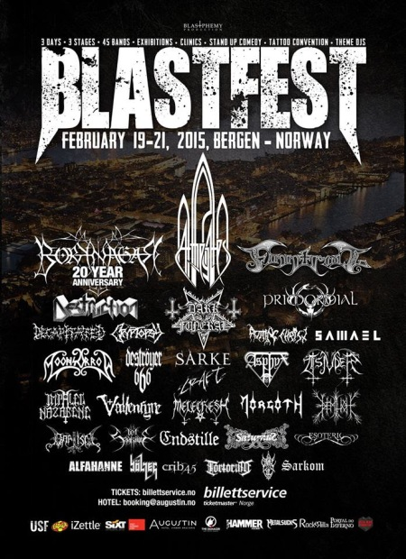 Blastfest - Bergen - Norway - Feb 2015 - promo festival flyer
