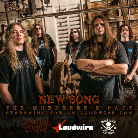 Cannibal Corpse - The Murderer's Pact - Loudwire - promo band flyer