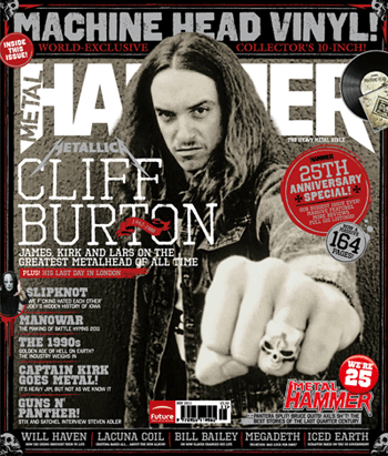 Cliff Burton - Metal Hammer - cover photo - 25th anniversary issue -