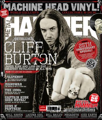 Cliff Burton - Metal Hammer - cover photo - 25th anniversary issue -