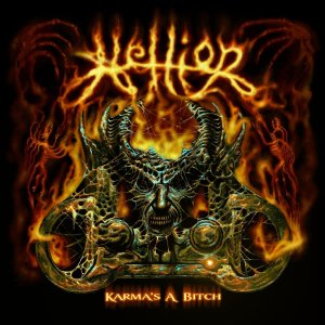 Hellion - Karma's A Bitch - promo EP cover pic - 2014