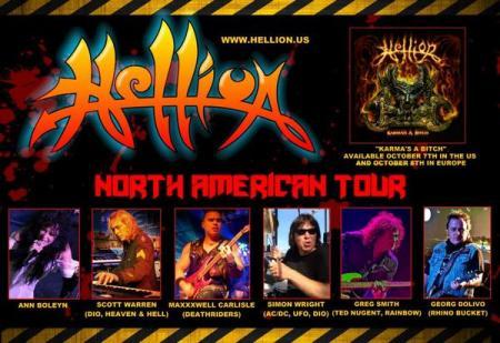 Hellion - North American Tour - 2014 - promo flyer - #2802