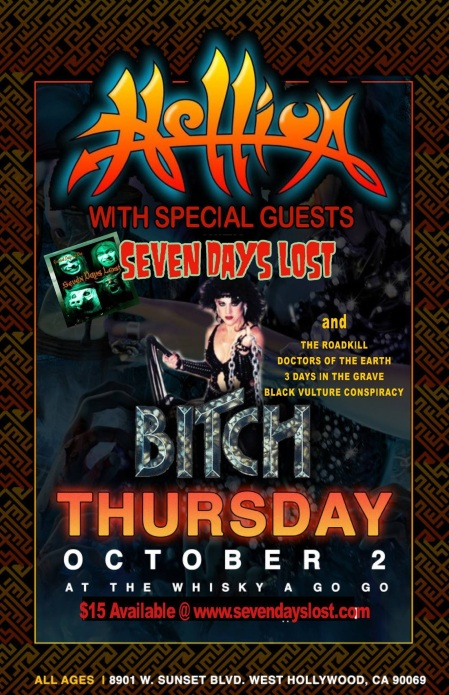 Hellion - Record Release Party - promo flyer - October 2 - 2014