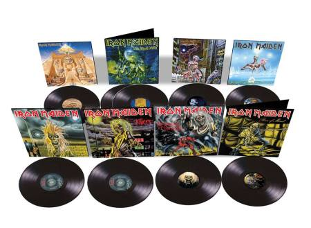 Iron Maiden - first 8 albums - vinyl promo pic - 2014 - #031