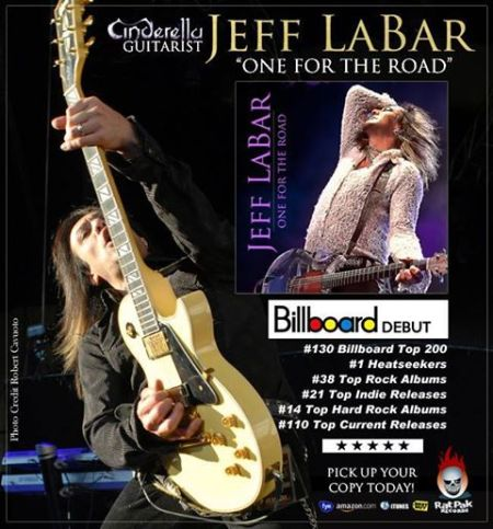 Jeff Labar - One For The Road - Billboard Charts - promo flyer-2014