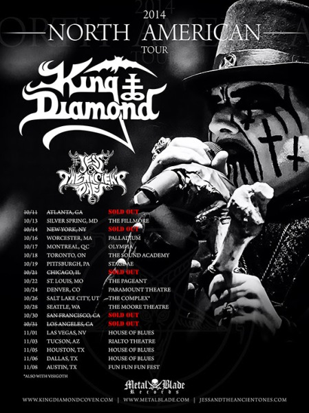 King Diamond - 2014 North American Tour - promo flyer - #440138
