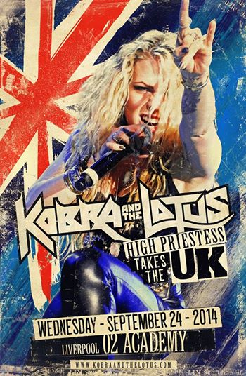 Kobra and the Lotus - takes the UK - Liverpool - 02 Academy - promo flyer - 2014
