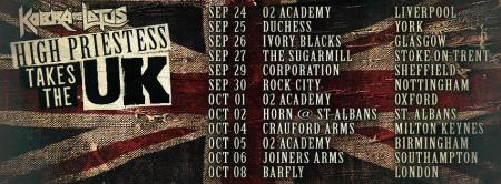 Kobra and the Lotus - takes the UK - tour promo banner - 2014