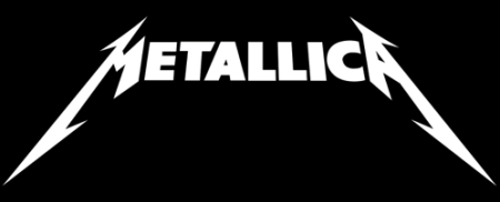 Metallica - Classic Band Logo - White on Black - #777493