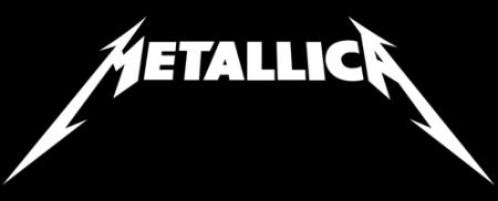 Metallica - Classic Band Logo - White on Black - #777493