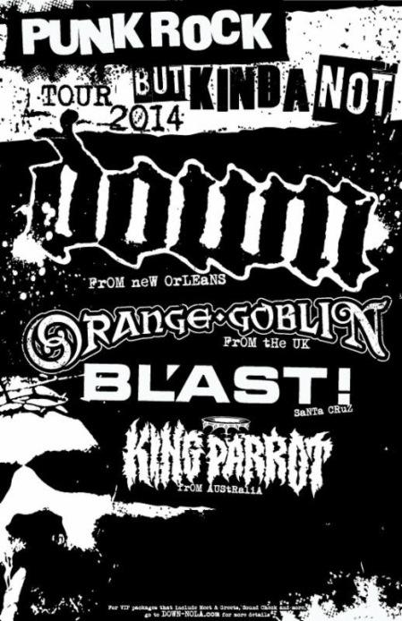 Orange Goblin - Down - North America Tour - promo flyer - 2014