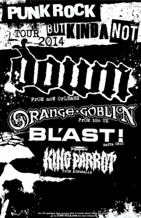 Orange Goblin - Down - North America Tour - promo flyer - 2014