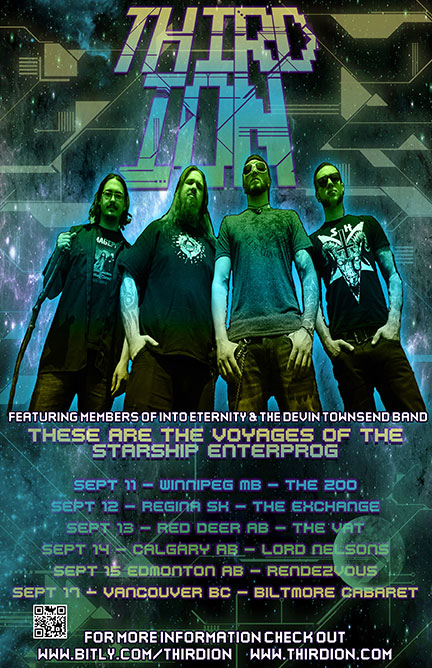 Third Ion - Canadian Tour - September 2014 - promo flyer