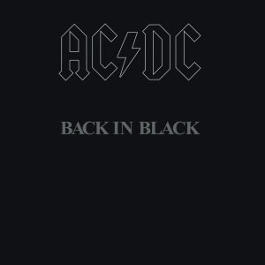 ACDC - Back In Black - promo album cover pic - #1980