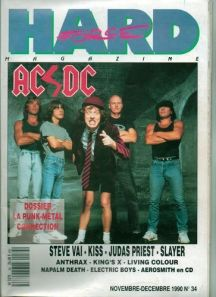 ACDC - Hard Force - magazine cover - 1990 - promo