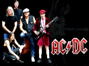 ACDC - promo band pic - band logo - #1976SZ