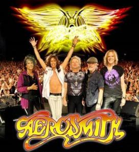 Aerosmith - Back On The Road Tour - promo band pic - band logo - 2011