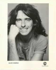 Alice Cooper - Warner Brothers promo card - circa early 70s