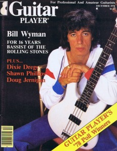 Bill Wyman - Guitar Player magazine - promo cover pic - 1978