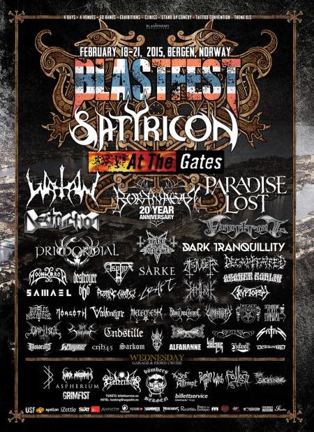 Blastfest - 2015 - February - promo festival flyer - Satyricon