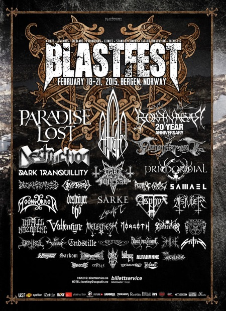 Blastfest - 2015 - promo festival flyer - norway - february