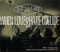 Def Leppard - When Love & Hate Collide - promo single sleeve