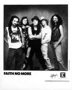 Faith No More - promo band label card - 1990 - #FNM1