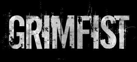 Grimfist - classic band logo - B&W - 2014