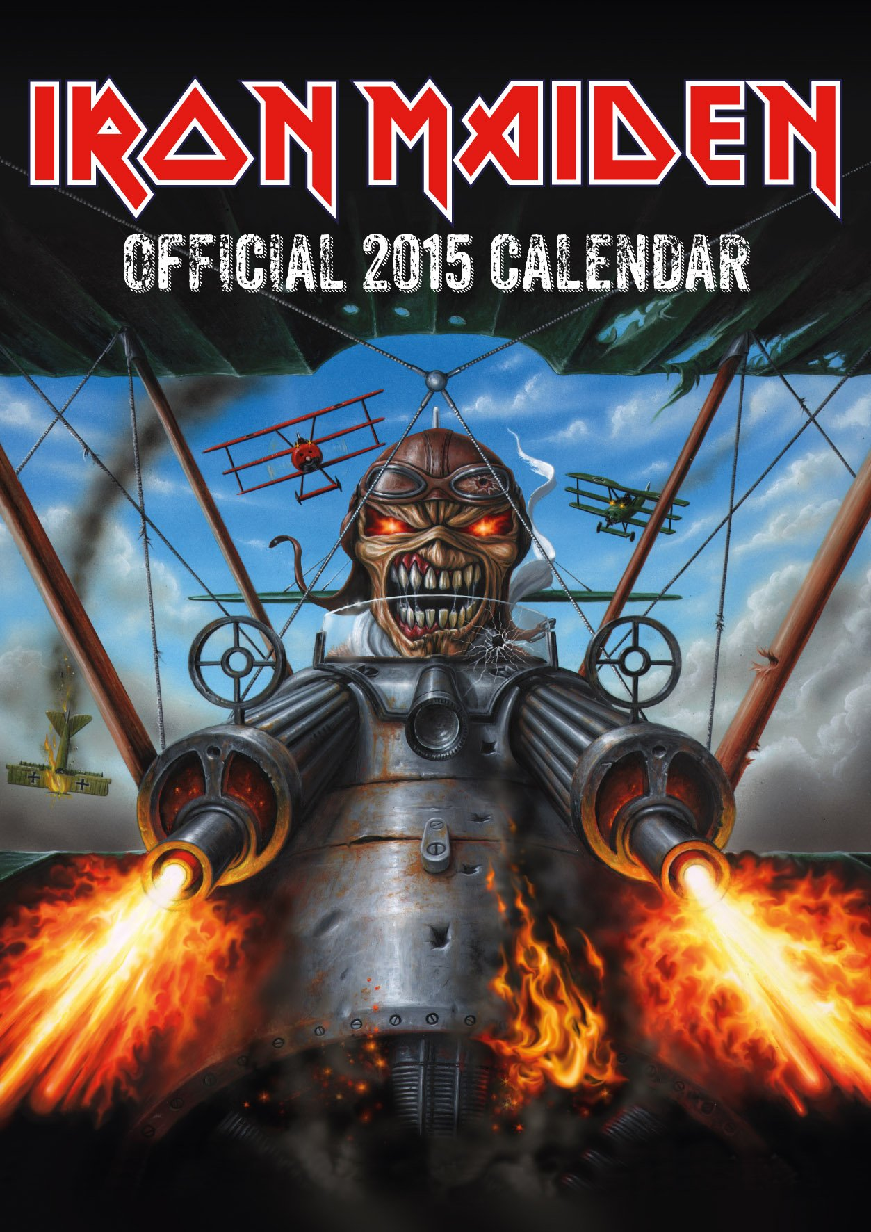 iron maiden � 2015 wall calendar is available now metal