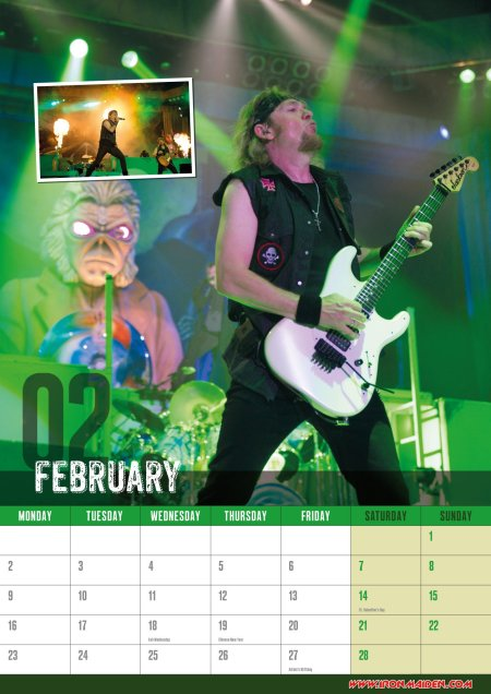Iron Maiden - 2015 Wall Calendar - promo pic - February