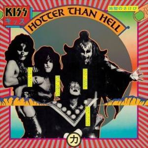 KISS - Hotter Than Hell - promo album cover pic - 1974 - #74K