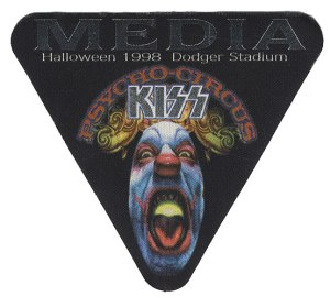 Kiss - Psycho Circus - Dodger Stadium - 1998 - guitar pic patch promo