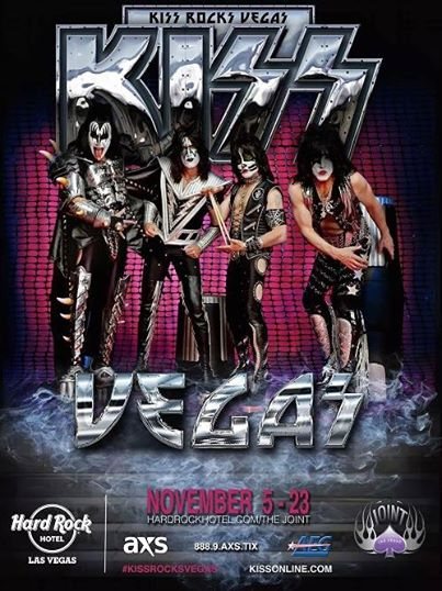 KISS - Rocks Vegas - November 2014 - promo flyer - #18TT
