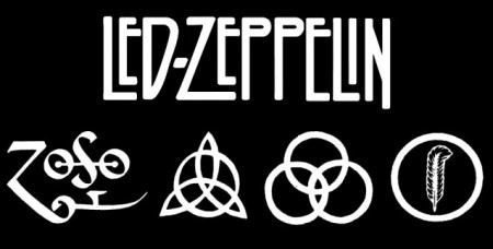 Led Zeppelin - Classic Band Logo - B&W - #016601