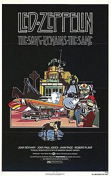 Led Zeppelin - The Song Remains The Same - movie poster promo - #RP1
