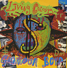 Living Colour - Glamour Boys - promo single sleeve - 1988-89