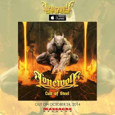 Lonewolf - Cult Of Steel - promo cover pic - 2014