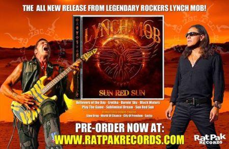 Lynch Mob - Sun Red Sun - George Lynch - Oni Logan - promo album flyer - 2014