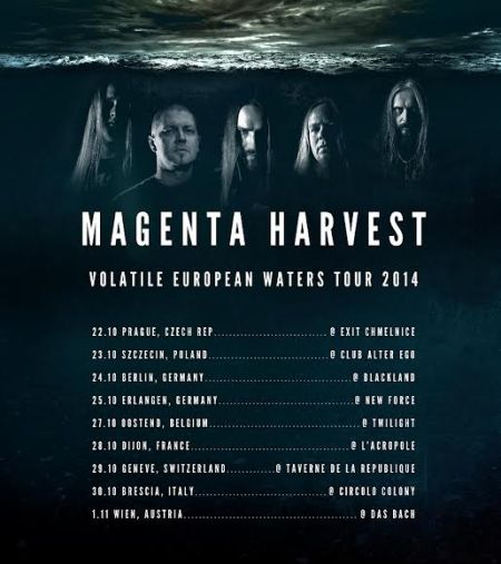 Magenta Harvest - European Tour - promo flyer - 2014