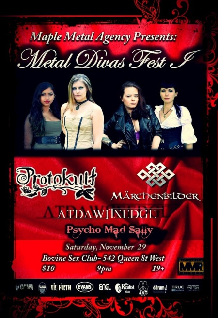 Metal Divas Fest - Protokult - November 2014 - promo flyer