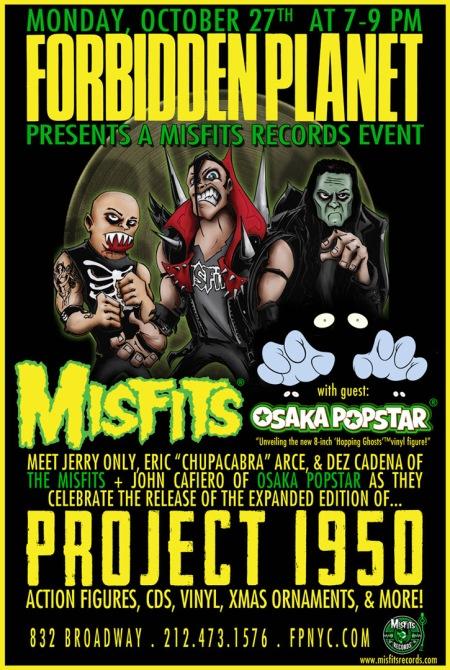 Misfits - Osaka Popstar - October 27 - 2014 - NYC instore signing - promo flyer