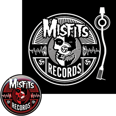 Misfits Records - button and patch - promo pic - 2014