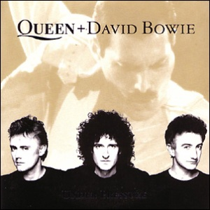Queen and David Bowie - Under Pressure - promo single sleeve cover - #QDB15
