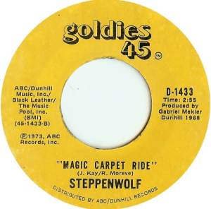 Steppenwolf - Magic Carpet Ride - 45 single - promo pic - #1968S - yellow